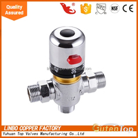 LB-Gutentop 1/2*3/4 inch High Quality Brass Piping Thermostatic Linbo Mixing Valve Control the Water Temperature