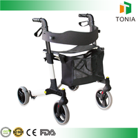4 wheel medical rollator which can be used for elderly