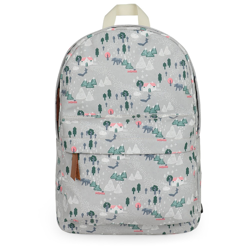 Fashion School Backpacks Canvas Sublimation Printing Backpack for Teenage Girls