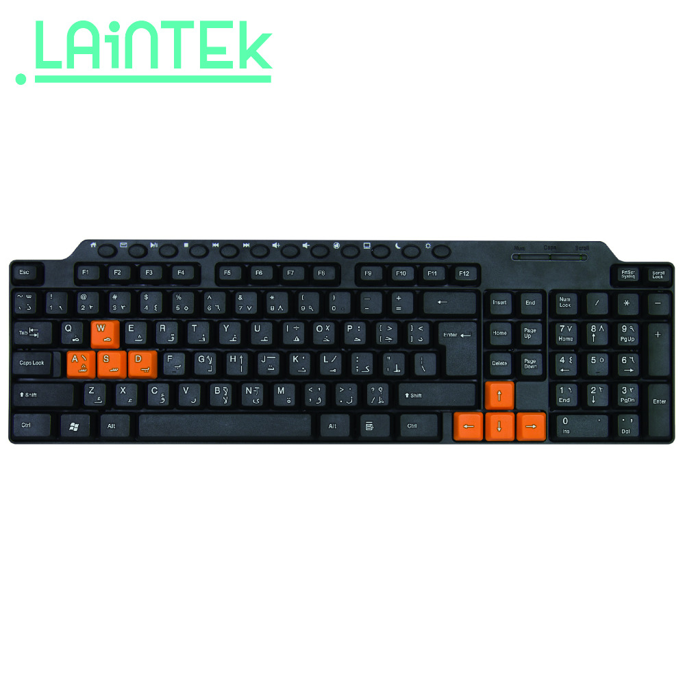 full black colour cheapest desktop best multimedia wired USB keyboard