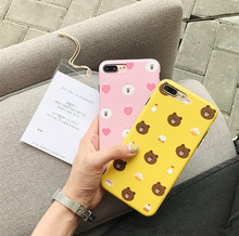 Wholesale IMD Ultra Thin Cartoon Cute Bunny Bear TPU Mobile Phone Case Cover for iPhone X 8 8plus 7 7plus 6 6s 6plus