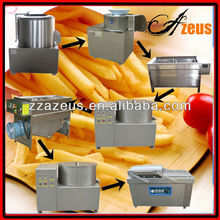 full automatic stainless steel processing plant for frozen french fries/potato chips making production l