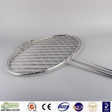 Round barbecue accessory wire mesh with border in stock