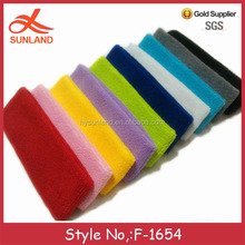 F-1654 new multicolor 100% cotton cheap bulk sport headbands yoga head wrap