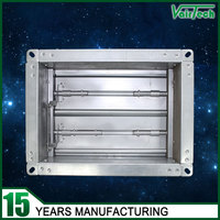 Air conditioning galvanized steel volume temperature control damper