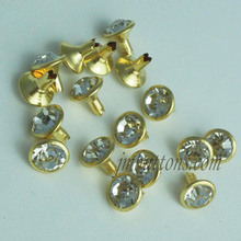 Rhinestone nailhead metal studs for leather jeans