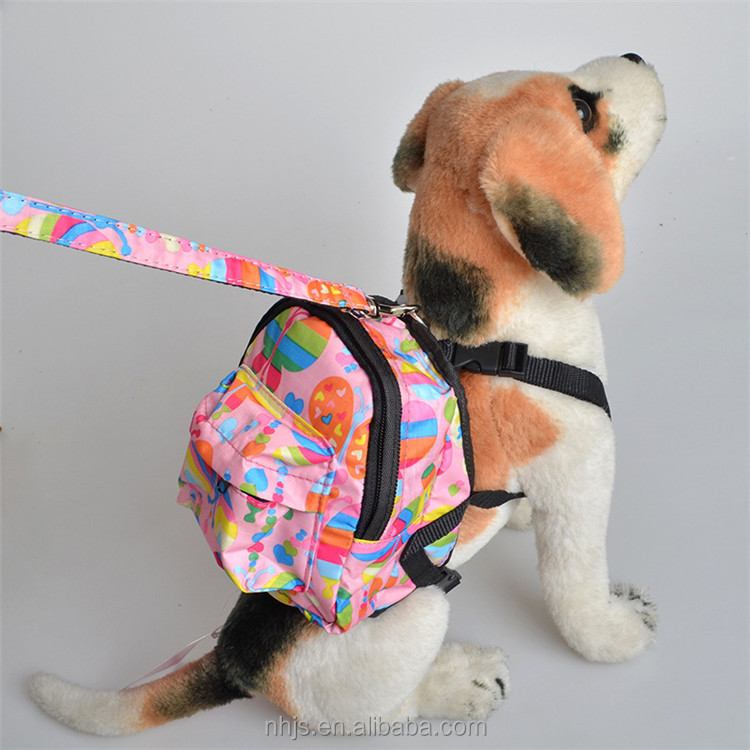 2016 New Pet Products Cute Saddle bag for pet Outdoor Puppy Bag Travel Hiking Dog Backpack