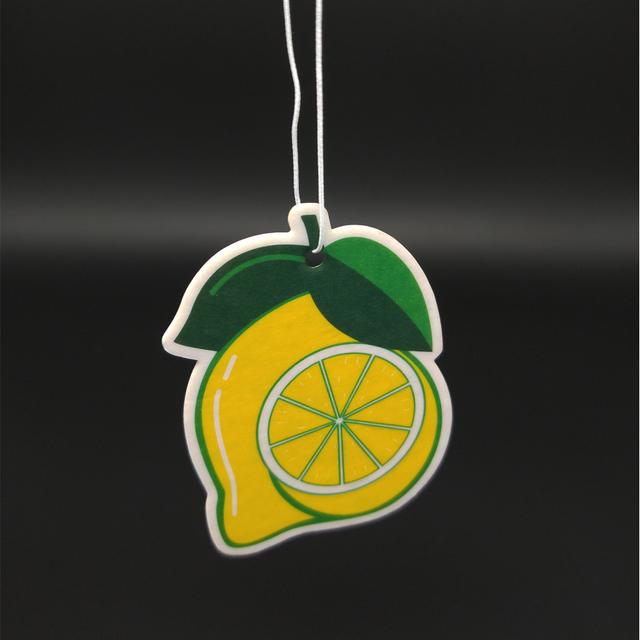 Custom Paper Air Freshener with Lemon Fragrance