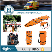 HS-J001 Orange HDPE Plastic Rolled Helicopter Emergency Sked Rescue Stretcher