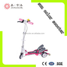 adult 3 wheel dual pedal scooter brand names with suspension for wholesale