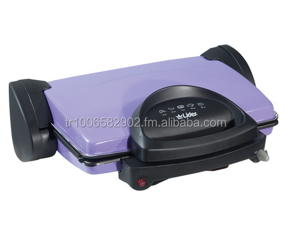 Electric Toaster Grill with Detachable Non Stick coated Grilling Plates