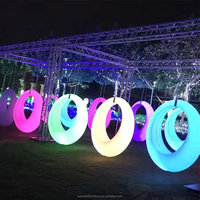 2018 newest entertainment event outdoor led swing with 16 colors changing