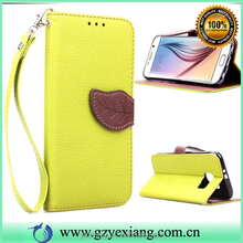Top selling products in alibaba leaf style wallet leather case for htc one m7 flip stand case with card slot