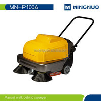 industrial hand push electric garden pavement sweeper walk behind