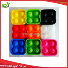 4 Cavities silicone ice ball maker , silicone ice ball mold for Whiskey