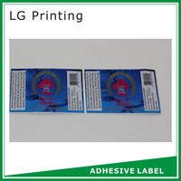 high security permanent adhesive waterproof labels for glass with low price