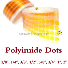 1/4 inch die cutting Kaptons dot polyimide film