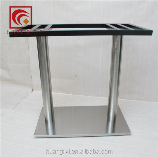 Stainless steel composite plastic table leg, double column stainless steel table leg, table frame