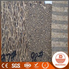 popular pu cork leather raw material for shoe heel/Cork Leather