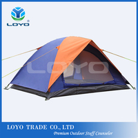 2 person cheap windproof outdoor camping tent for wholesale