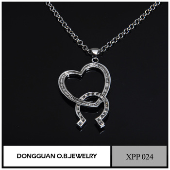 MYLOVE The Heart of the Pendant necklace crystal Titanic Jewelry With White Gold Plated