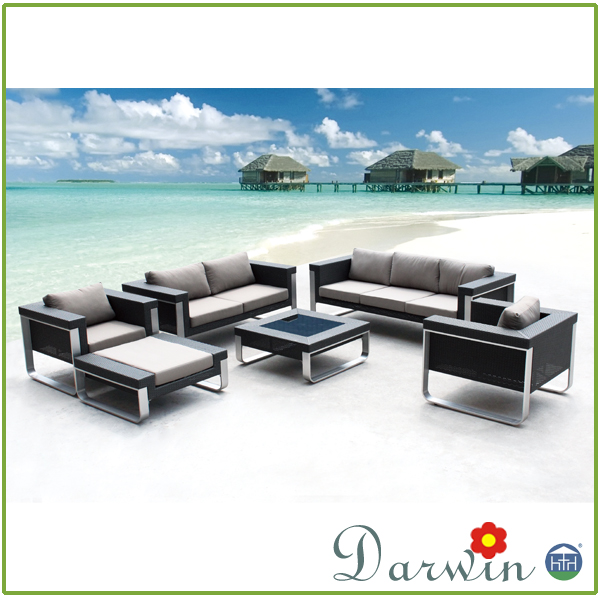 outdoor Furniture New Design Sectional fasion PE rattan wicker Garden Sofa