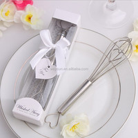 500pcs tainless Steel Heart Shape Hand Whisk Egg Beater party supplies wedding gifts for guests wedding favorDHL Freeshipping