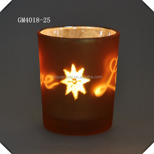 christmas decoration glass tealight holder