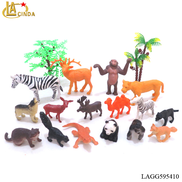 4-9cm soft plastic toys kids forest animals toys mini wild animals in bulk