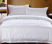 Luxury Hotel textile supply, Satin Stripe Hotel Bedding sets, Bed sheet
