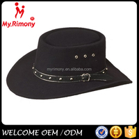 Cool black china cheap felt wholesale cowboy hats