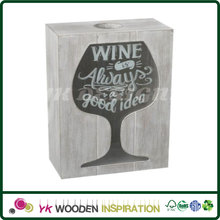 Wine cork holder decor with Laser Engraving