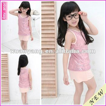 OEM 2016 hot hot pink wholesale child girl puffy dress