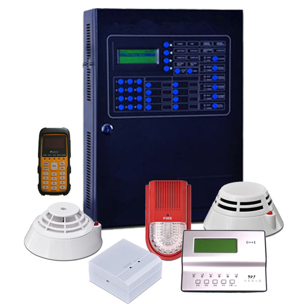 addressable real tracking IP 200 points fire alarm system for hotel
