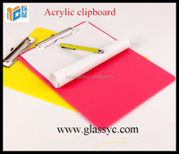 China supplier new product 2016 A4/A5 size acrylic clipboard