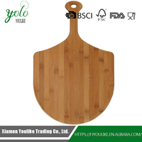 Strong and Durable 100% Flat Grain Bamboo Pizza Peel with Handle