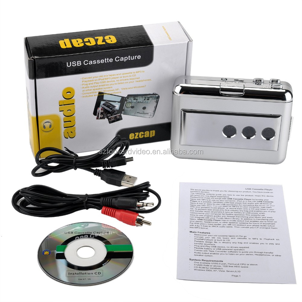 Tape to MP3 Cassette Converter Player ezcap218B