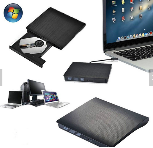 top sell Portable Slim USB 3.0 External CD-RW DVD-RW Burner Writer Recorder for Laptop PC Desktop