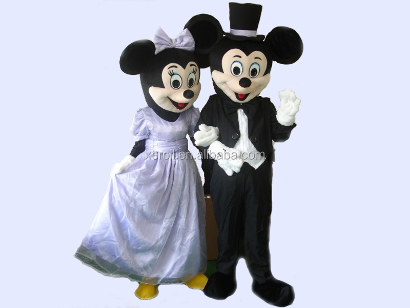 Brilliant quality mickey and minnie mascot costume