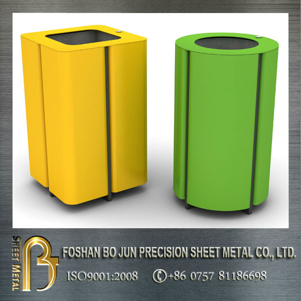 Custom metal powder coated donation bin