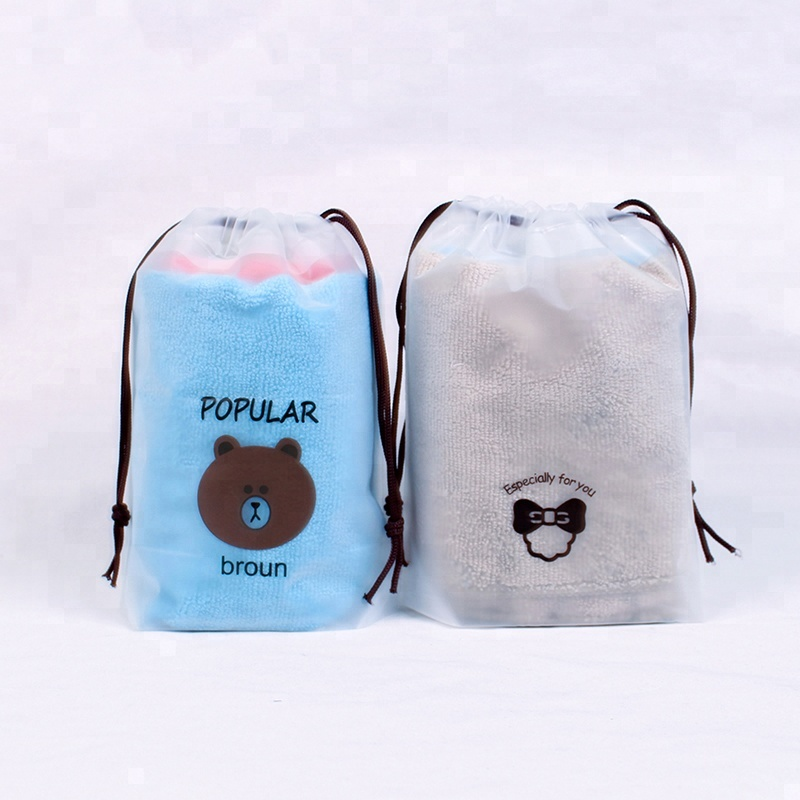 Pe Drawstring Printing Logo Plastic String Gift Bags Wholesale For Clothes Buy Drawstring Bags Printing Logo Plastic Drawstring Gift Bags Draw