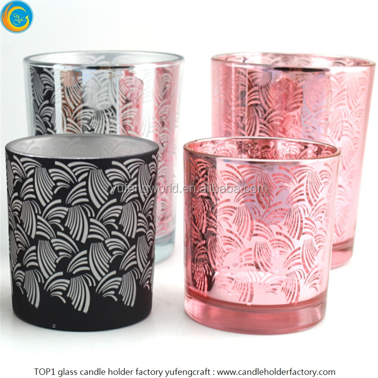 silver tea light candle glass holders made by yufeng craft