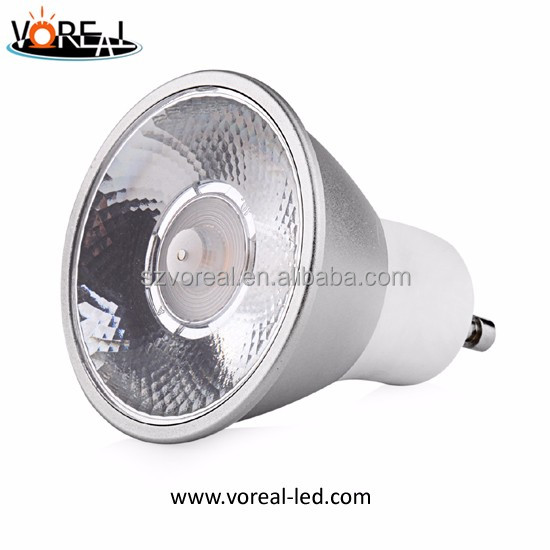 10/20/30 degree dimmable 5w cob led spotlight gu10 replace or project with excellent lens