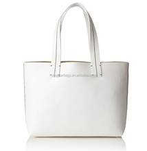 White Tote Bag Mother's Day Promotion Handbag PU Leather