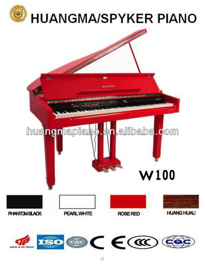 HUANGMA HD-W100 red digital grand piano for toy electronic organ