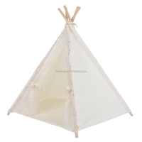 Love Tree Indian Teepee Tent Cotton Canvas Fabric Dog House