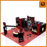 aluminum extrusion trade show booth, portable display shelves for trade shows