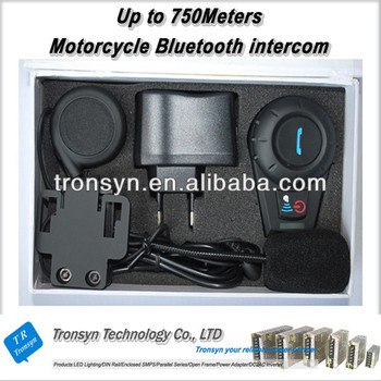 Made in China 2 Riders 500M Wireless walk talk interphone support phone calling,GPS,MP3,MP4