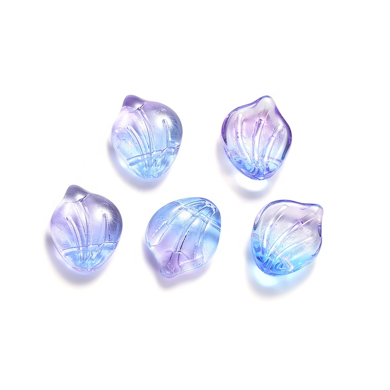 Wholesale Different Color Shell Shapes Bead Charm Pendant Lampwork Czech Glass Beads <strong>Crystal</strong> For Necklace Jewelry Making