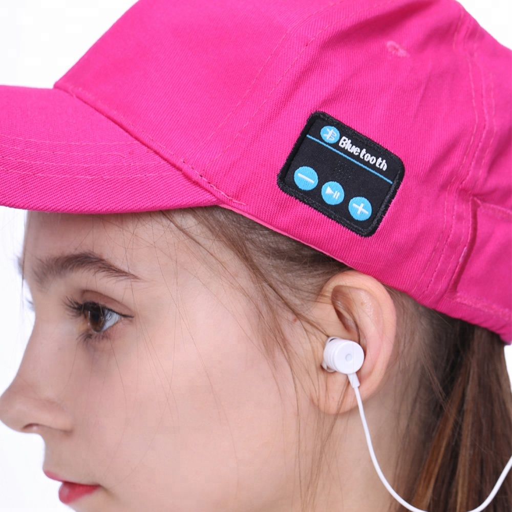 High Quality Summer Gift OEM Wireless Headset Bluetooth Music Earphone Hat Baseball <strong>Cap</strong>